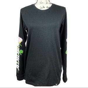 Women's Adidas Floral Long Sleeve Graphic Tee NWT